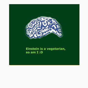 Vegetarian like Einstein by holeepassion
