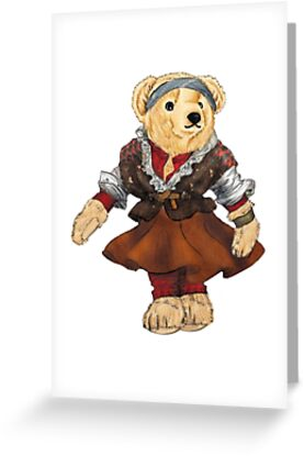 Ballet dancer polo bear greeting cards by easyrider3 redbubble ballet dancer polo bear by easyrider3 m4hsunfo