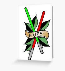 Hope Lightsaber Star Wars Tattoo Greeting Card