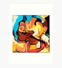 Violin Player Painting Art Print