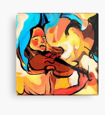 Violin Player Painting Metal Print