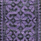 Floral Scroll - Lavender by Marsha White