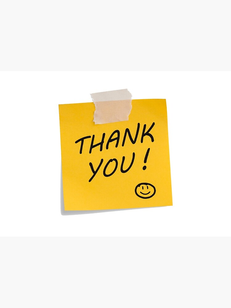 "Thank you Post-it Notes"" Greeting Card by russ867 