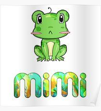 Mimi Frog Poster