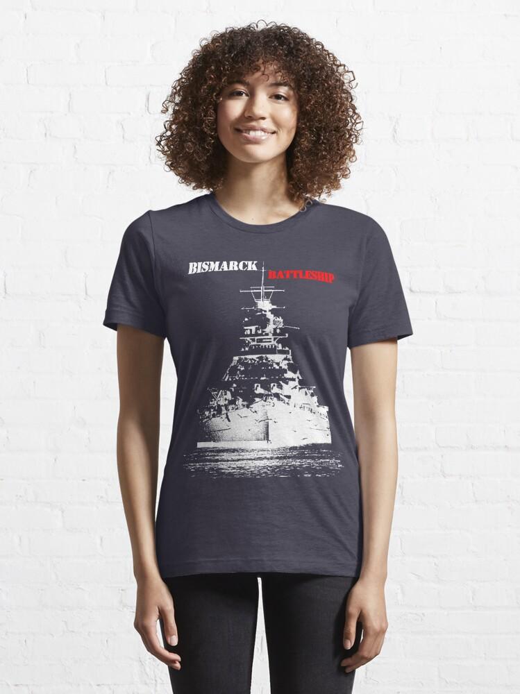 Alternate view of Bismarck - Battleship Essential T-Shirt