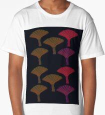 Design exotic trees on black Long T-Shirt