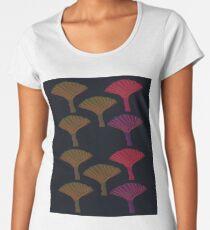 Design exotic trees on black Women's Premium T-Shirt