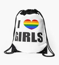 I Love Girls / LGBT Drawstring Bag
