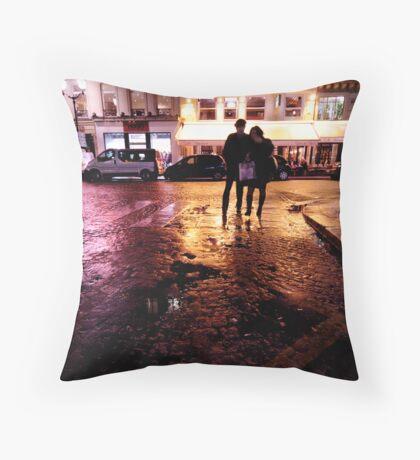 In Paris, in love Throw Pillow