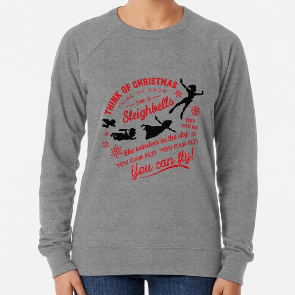 Think of Christmas Peter Pan inspired, You Can Fly by Kelly Design Company Lightweight Sweatshirt