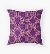 Tartan Mess - Purple Floor Pillow