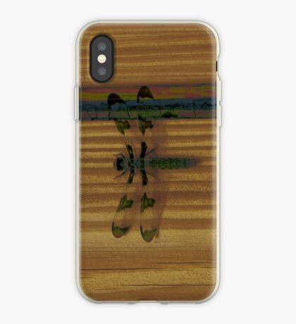 Dragonfly on Stripes iPhone Case