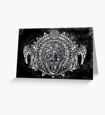 angels dont BLINK aztec Style Greeting Card
