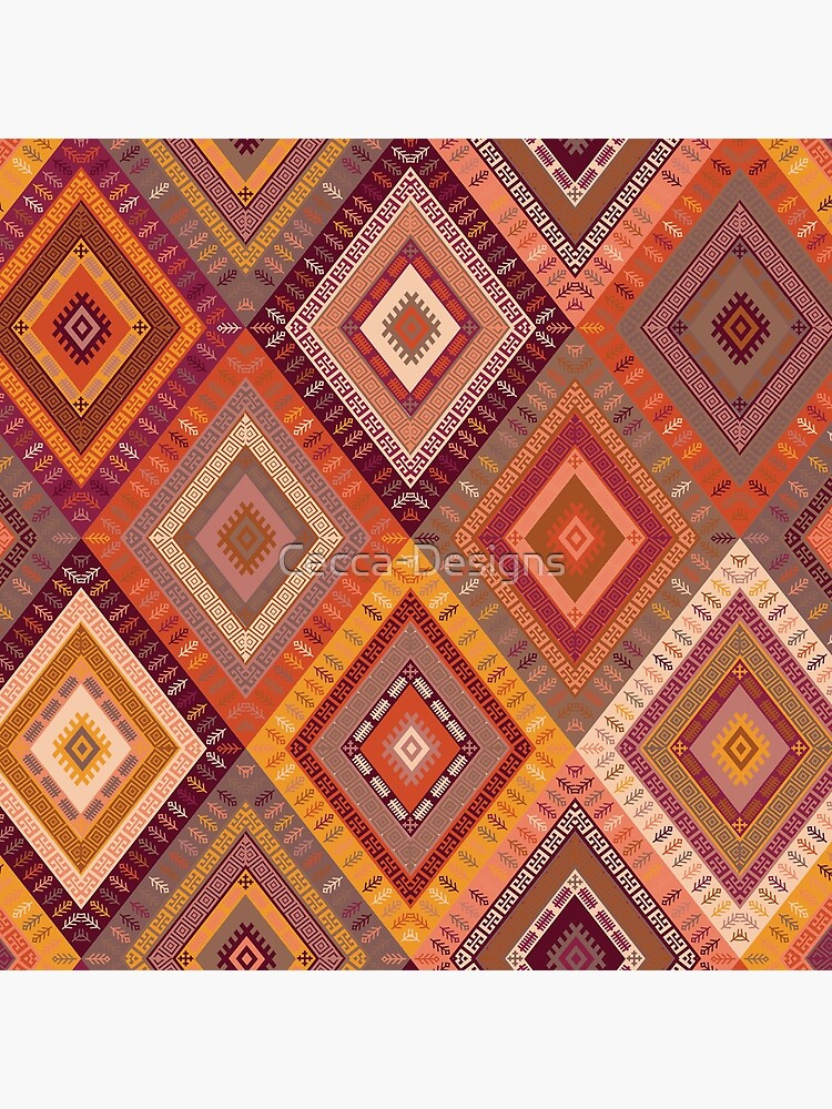 Kilim Diamonds - Apricot by Cecca-Designs