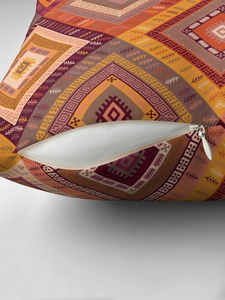 Alternate view of Kilim Diamonds - Apricot Throw Pillow