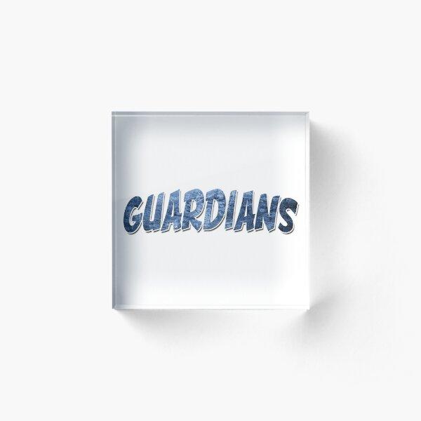 Guardians | Frost Blue Logo Acrylic Block