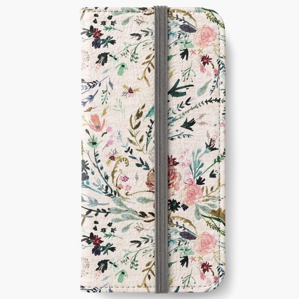Fabel mit Blumen iPhone Flip-Case