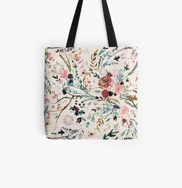 Fable Floral  All Over Print Tote Bag