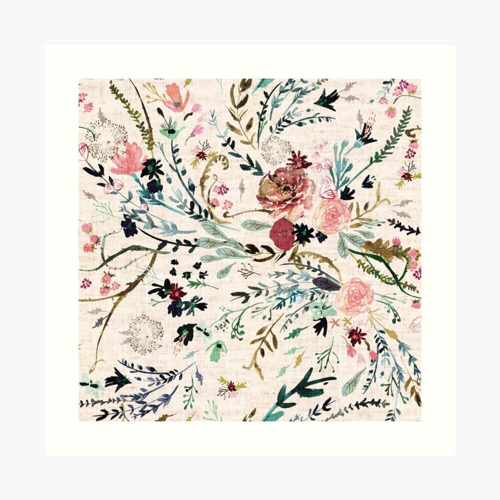Fabel mit Blumen Kunstdruck
