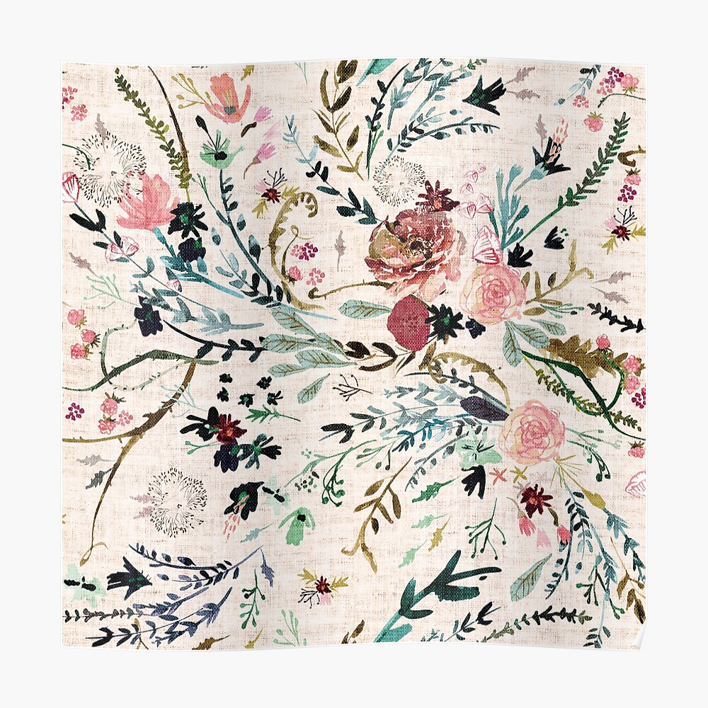 Fable Floral  Poster