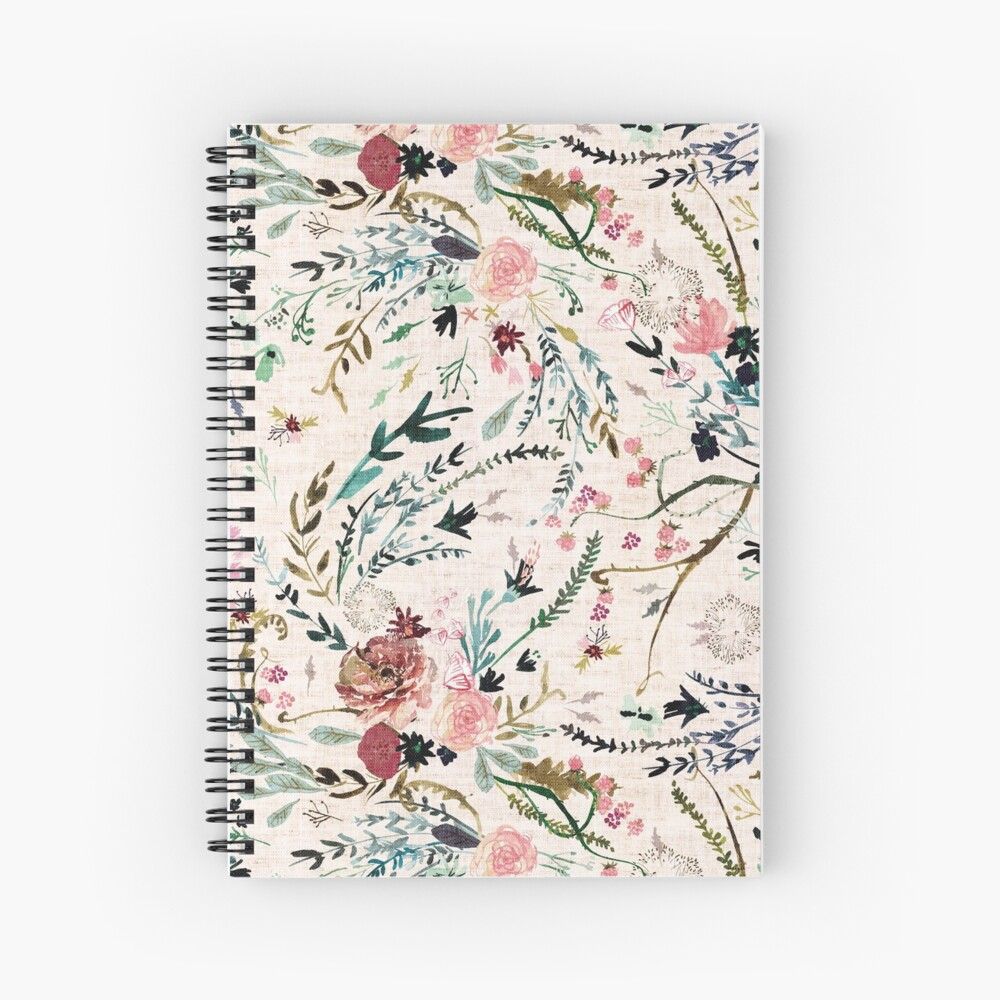 Fable Floral  Spiral Notebook