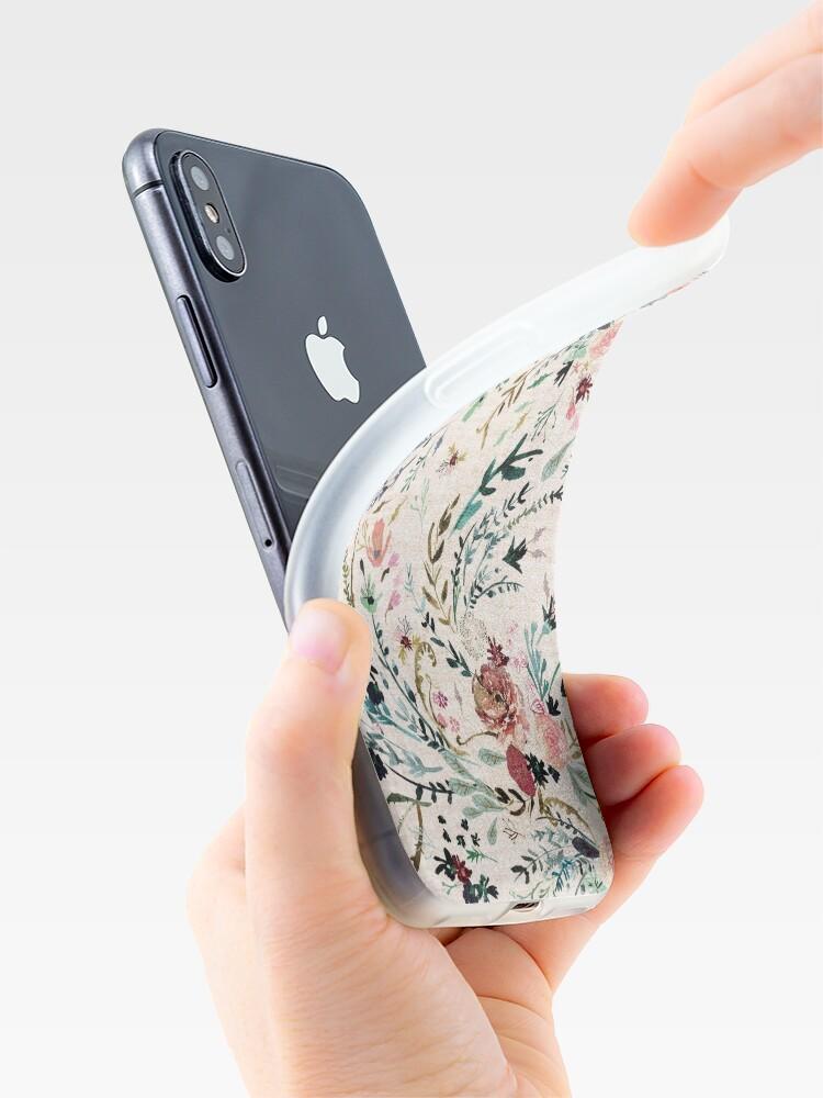 Vista alternativa de Funda y vinilo para iPhone Fable Floral