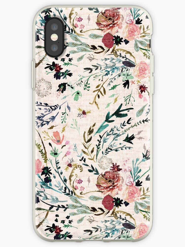 new product e68d5 2a27b 'Fable Floral ' iPhone Case by Esther Fallon Lau
