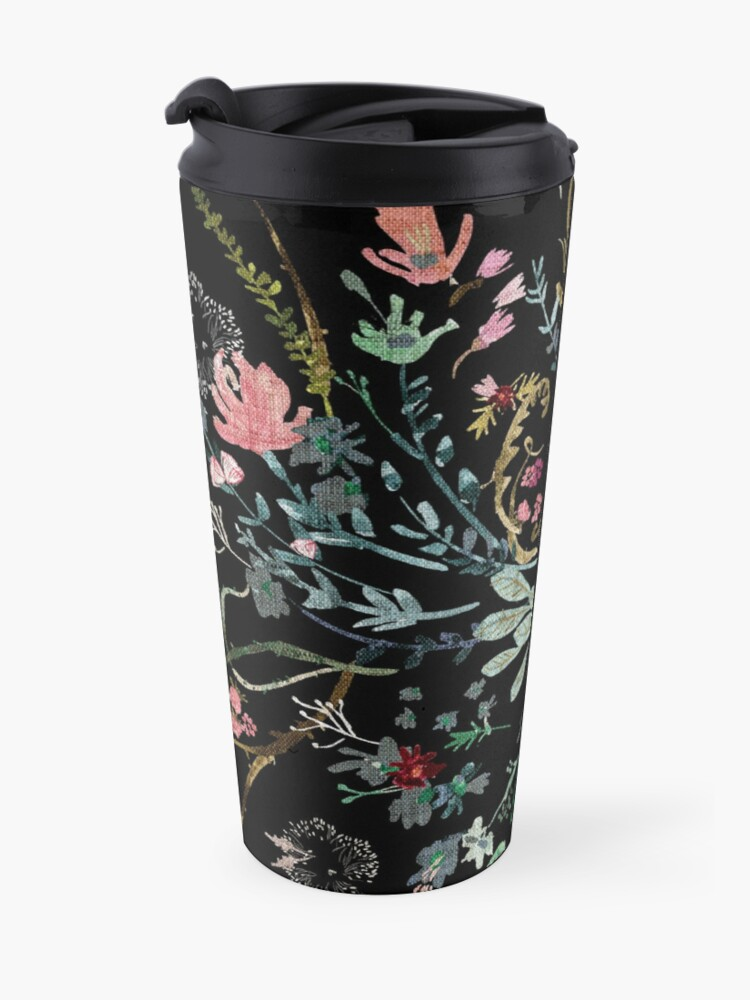 Alternate view of Midnight Floral Travel Mug