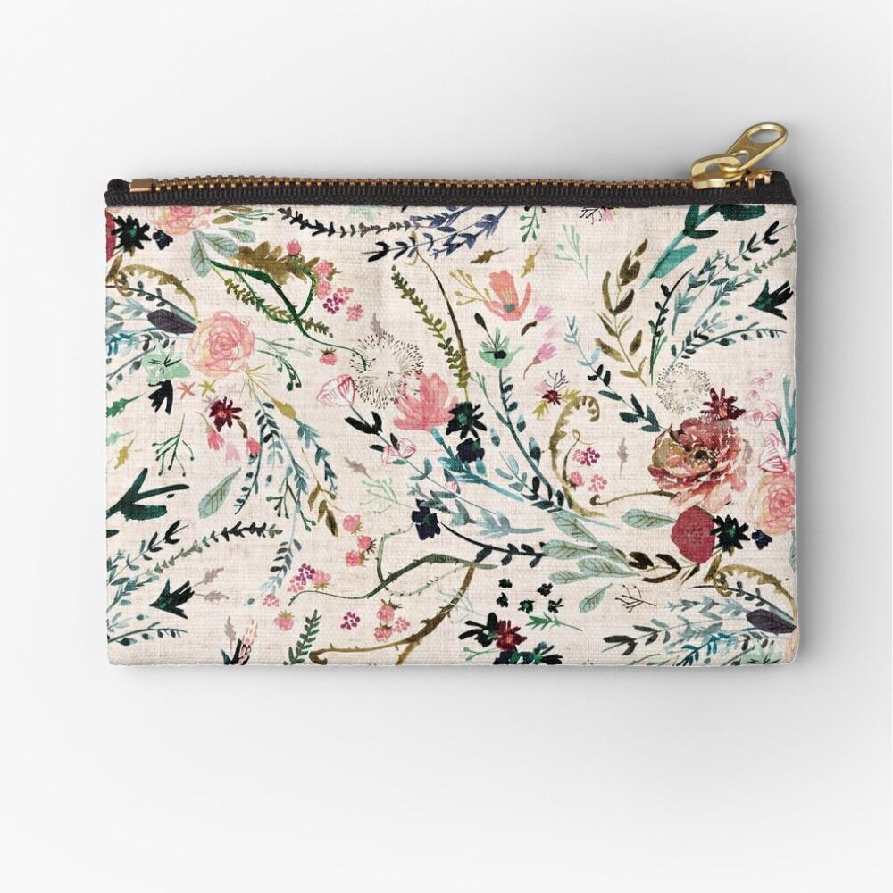 Fable Floral  Zipper Pouch