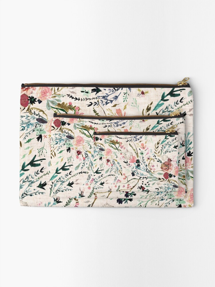 Alternate view of Fable Floral  Zipper Pouch