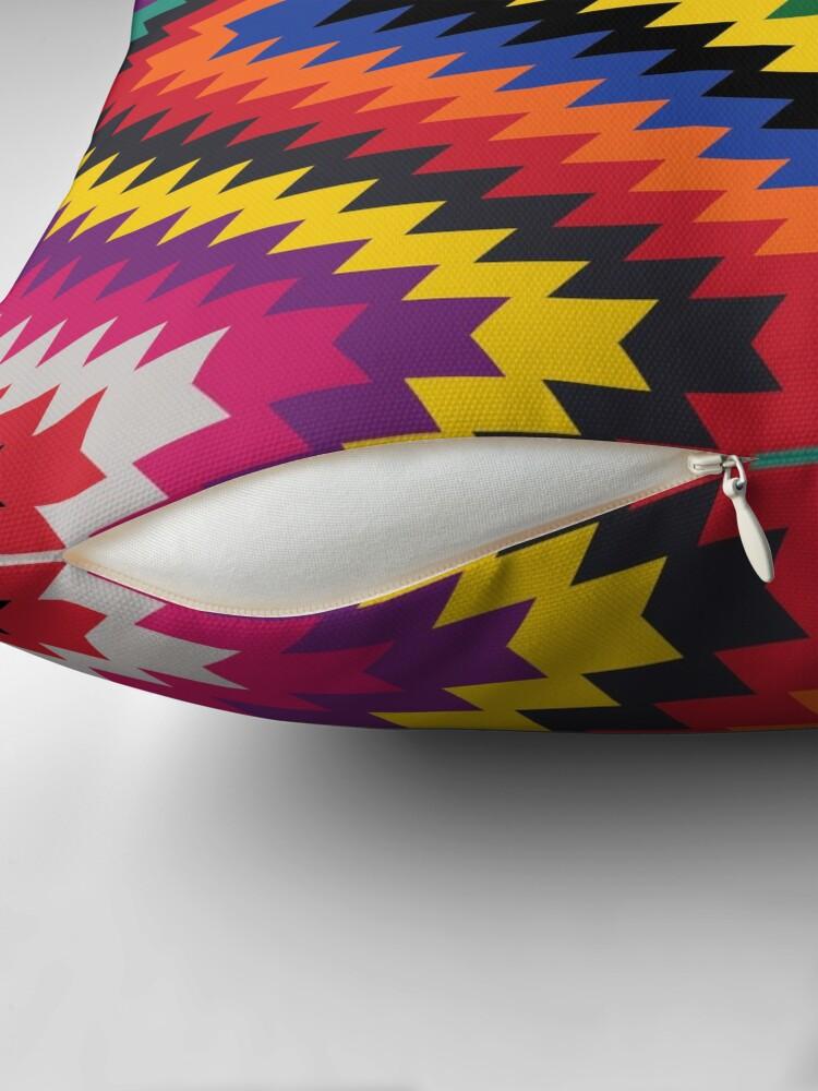Alternate view of Modern Kilim - Bright Geometric pattern by Cecca Designs Throw Pillow