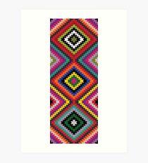 Modern Kilim - Bright Geometric pattern by Cecca Designs Art Print