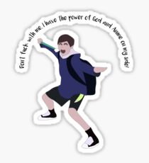 Power of God and Anime Sticker