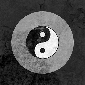 Distressed Yin Yang Symbol by yarddawg