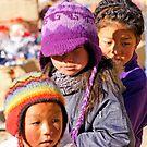 Village Children by Harry Oldmeadow