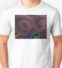 3D FRACTALS of WARM TAN, MAUVE & TEAL gifts & decor Unisex T-Shirt
