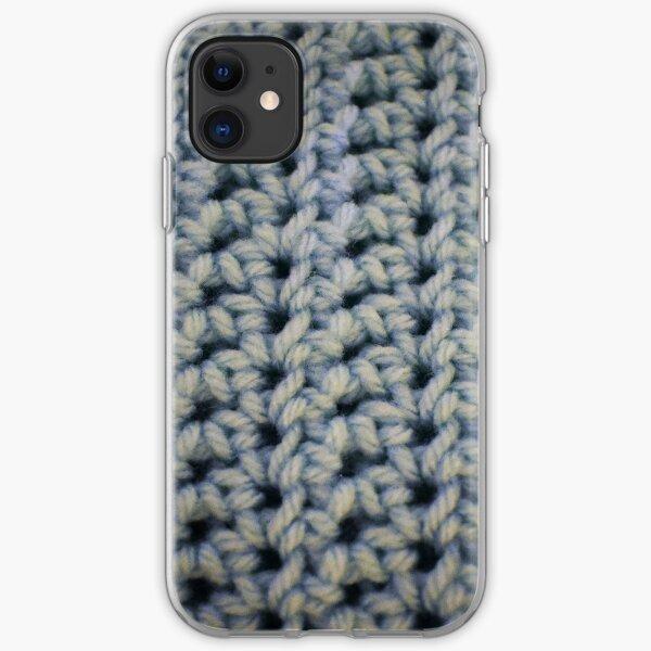 Distressed Blue Simple Stitch iPhone Soft Case