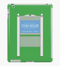Stars Hollow Sign, Founded 1779 iPad Case/Skin