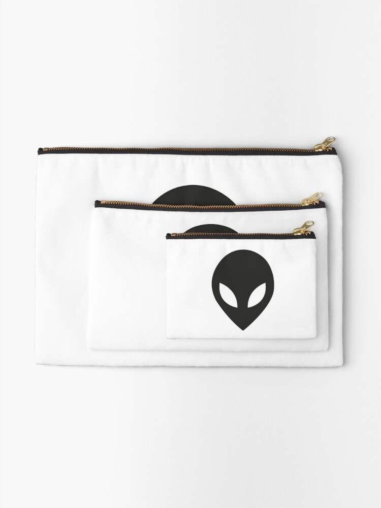 Alternate view of The face of the aliens Zipper Pouch