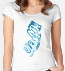 New Jersey Ocean Waves Women's Fitted Scoop T-Shirt
