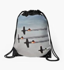 Air show after the air show Drawstring Bag