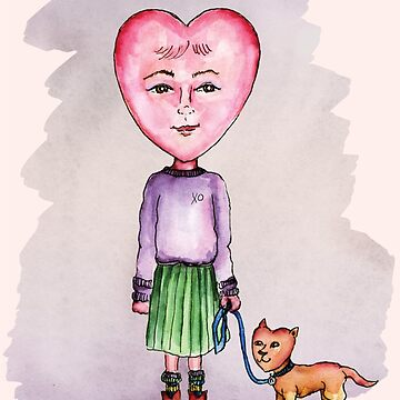 Girl with the Heart-Shaped Face by Fullfrogmoon