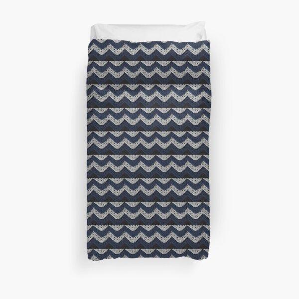 Layered Granny Squares and Chevron Stripes Duvet Cover