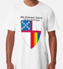 Episcopal Church Schild mit Regenbogen-Stolz 2 Longshirt