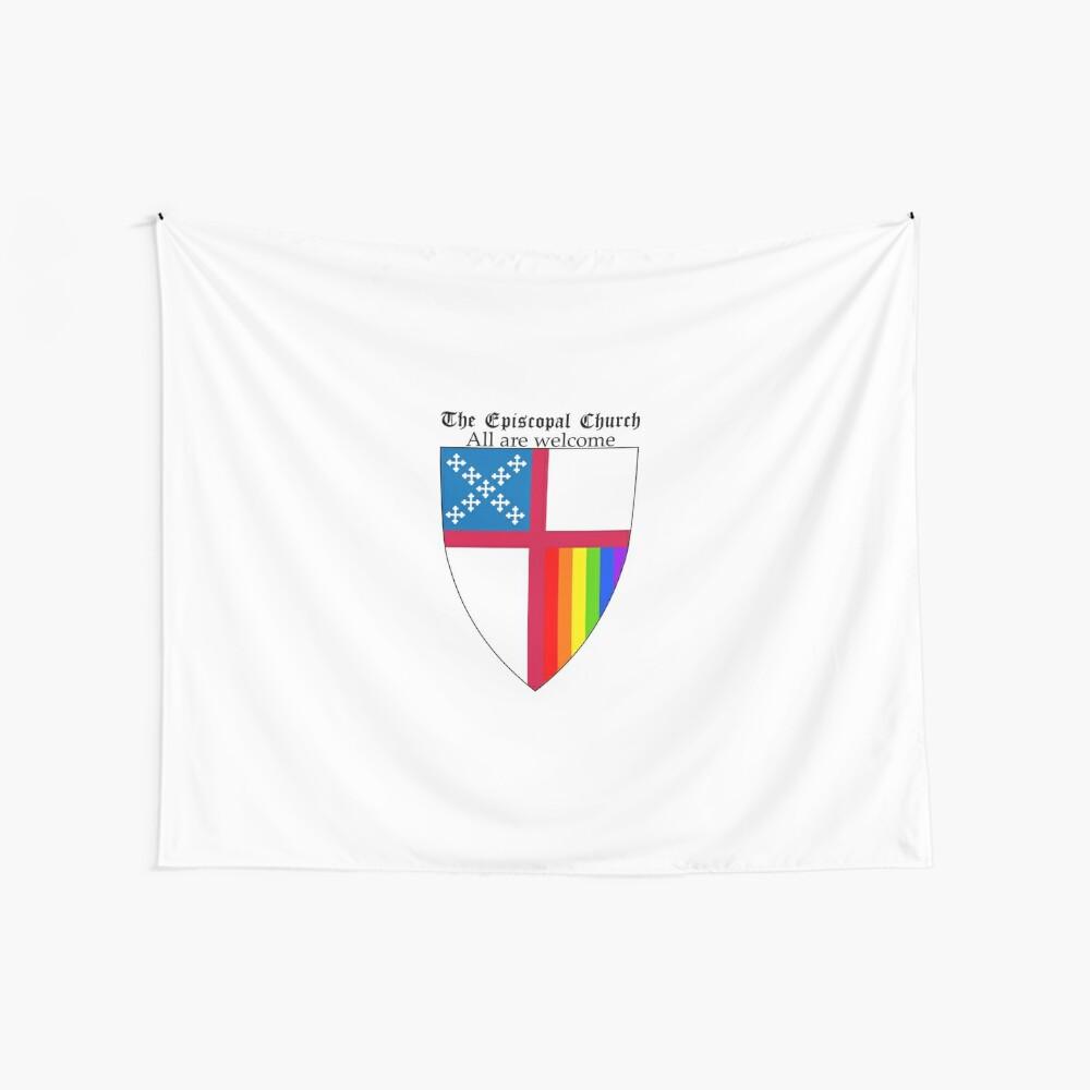 Episcopal Church Schild mit Regenbogen-Stolz 2 Wandbehang