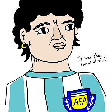 Diego Armando Maradona Hand of God by emmgut