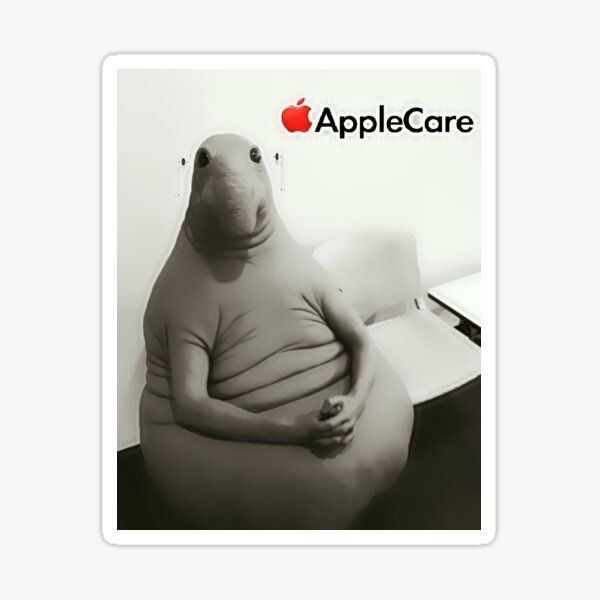The wait man with airpods Sticker