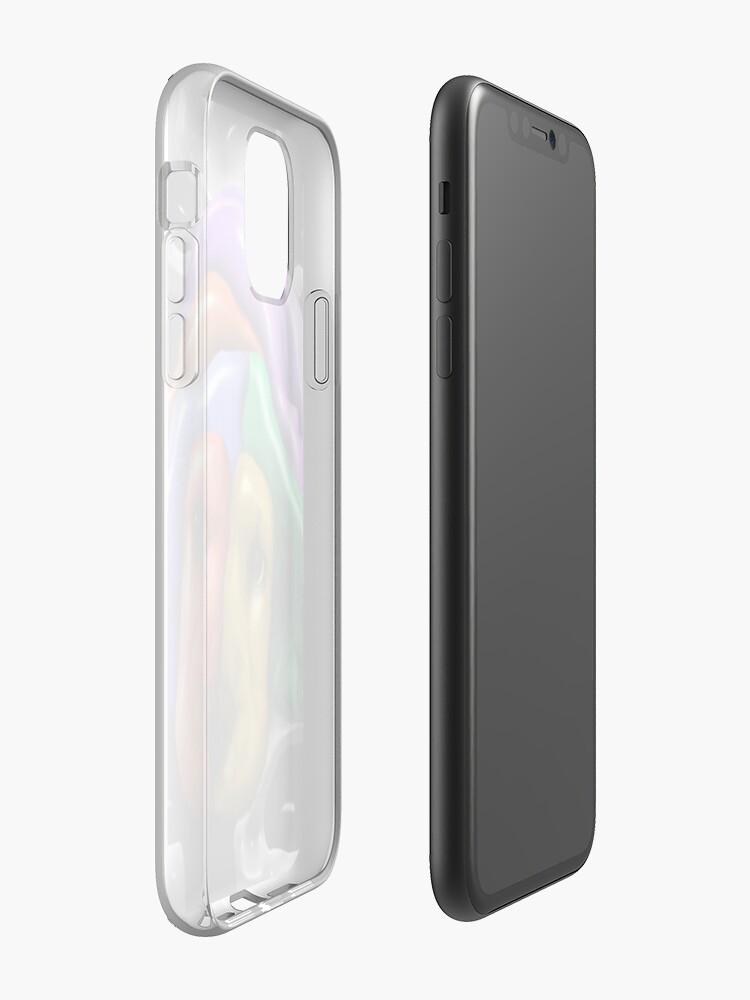coque spigen , Coque iPhone «Chiot d'apparence d'arc-en-ciel», par JLHDesign