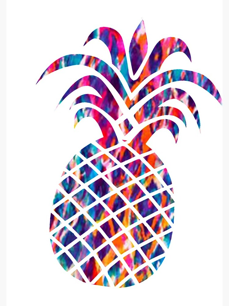 Pineapple colorful. Spiral notebook