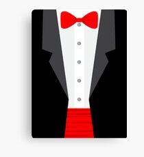 red tux tuxedo Canvas Print